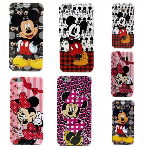 Casing Samsung S6 Minnie Mouse Custom painted soft tpu mickey minnie mouse painting rigid fiited cover for iphone 4 4s 5 5s 5c 6
