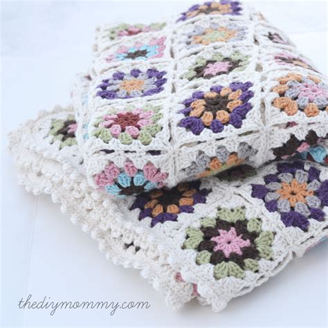 Squares Baby Blanket by Crochet An Organic Cotton Square Baby Blanket