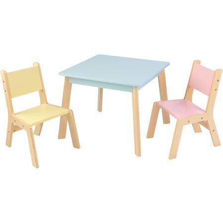 kidkraft and table and chair set kidkraft modern table and chair set pastel walmart com