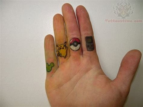 11 sweet cartoon finger tattoos