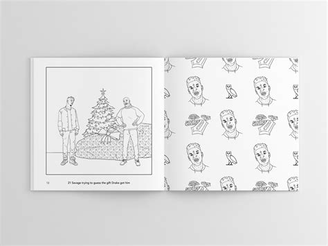 coloring book kanye west hip hop coloring book features 21 savage