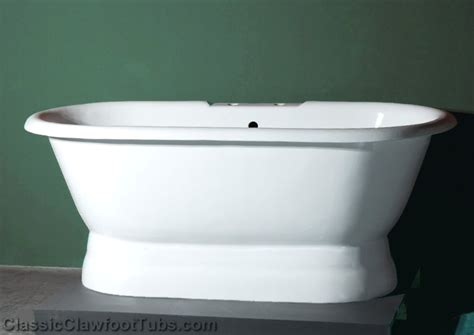 Pedestal Tub 66 Quot Cast Iron Ended Pedestal Tub Classic Clawfoot Tub