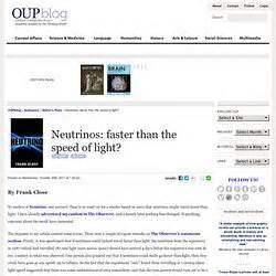 Neutrino Faster Than Light by Us Pearltrees