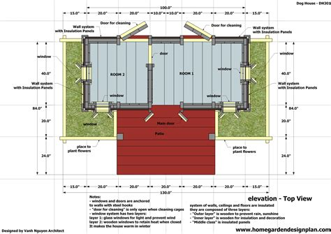 free dog house blueprints home garden plans dh301 dog house plans how to build an insulated dog house