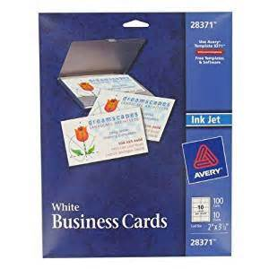 avery business card paper avery 100 count white ink jet printer