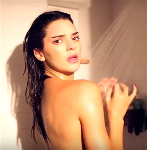 kendall jenner attacked by shark in shower