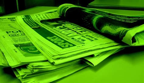 How To Make News Paper - newspaper forest green a stack of newspapers tinted a