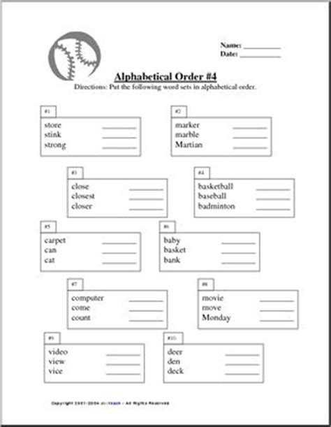 4 Letter Words In Alphabetical Order all worksheets 187 worksheets for alphabetical order