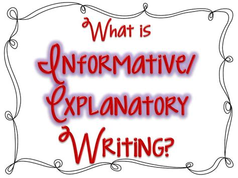 What Is An Informative Essay by Informative Explanatory Writing Expository Mrs Miller S Class