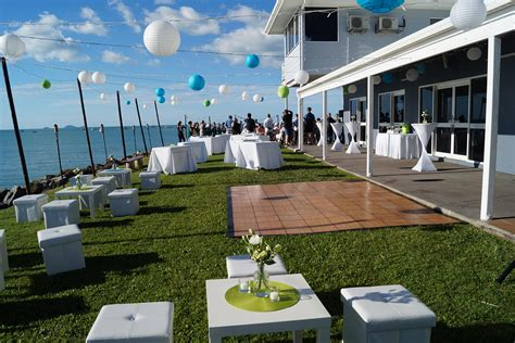 backyard cocktail wedding reception marine club whitsundays the best waterfront venue in the