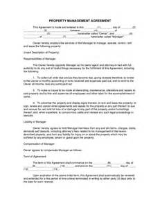 Property Manager Contract Sle by Property Management Agreement Hashdoc