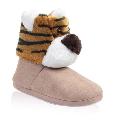 animal house slippers new ladies novelty animal womens plush girls christmas house slippers size s l ebay