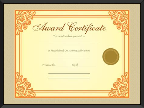 gold medal certificate template gold award certificate template get certificate templates