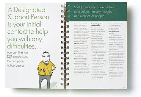 employee handbook layout design shell employee handbook on behance
