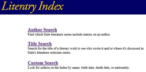Literature Database That Includes Essays by Books English1b Literary Criticism Libguides At