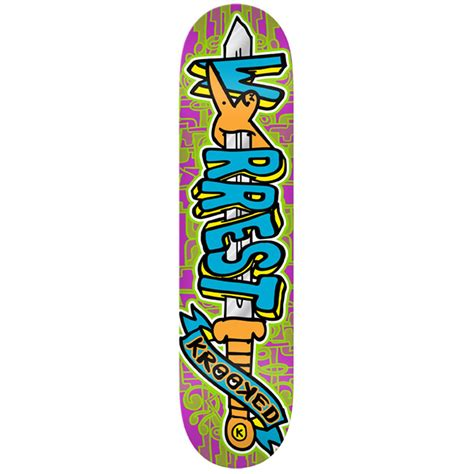 krooked deck krooked swordid worrest skateboard deck evo