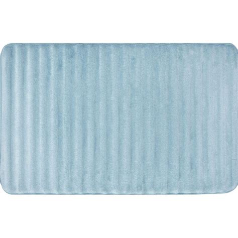 Light Blue Bath Mat by Home Dynamix Spa Retreat 3d Light Blue 21 In X 34 In