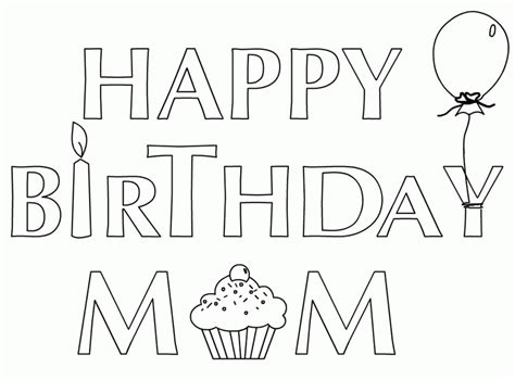 happy birthday coloring pages pdf happy birthday mom coloring page coloring home