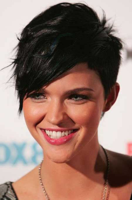 haircuts with longer sides and shorter back pictures of short haircuts with bangs short hairstyles