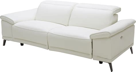 White Leather Reclining Sectional by Gaia White Leather Power Reclining Sofa 18253 S J M