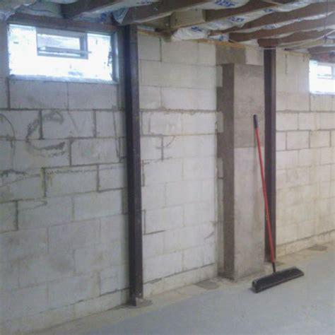 bowed basement walls foundation repair c j basement