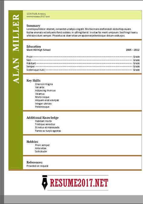 functional resume format 2017 functional resume format 2017