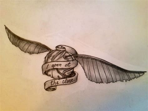 snitch tattoo every now and then i draw my obsessions i present to you