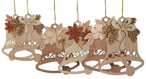 german wood ornaments bells german wooden ornament set of 6 made in