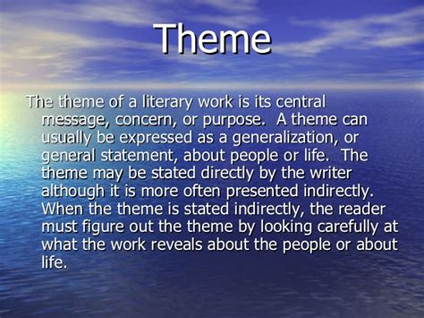 theme literary term powerpoint literary terms powerpoint