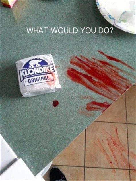 What Would You Do For A Klondike Bar Meme - klondike bar horror movie logic know your meme