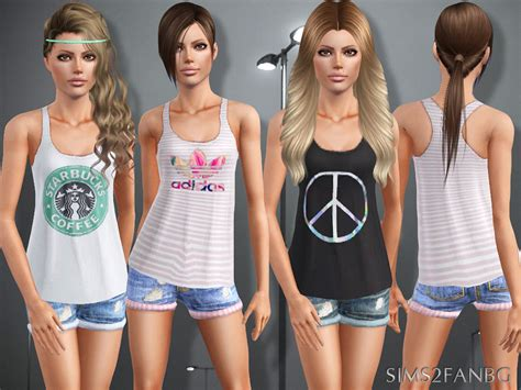 sims 3 teen clothes sims2fanbg s 388 teen top with shorts