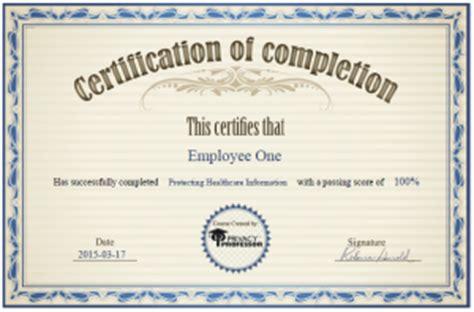 hipaa training certificate template anuvrat info