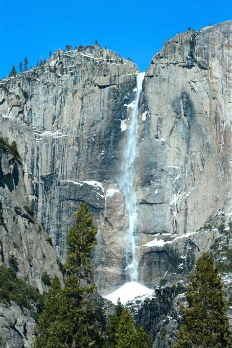 yosemite national park waterfall stock photo nature