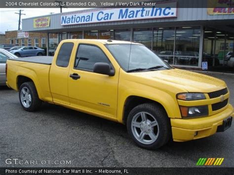 yellow  chevrolet colorado ls extended cab