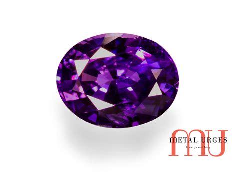 oval purple sapphire australia purple sapphire