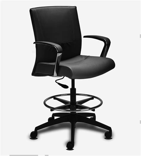Leather Drafting Chair by Black Modern Executive Leather Drafting Chair Ambience Dor 233