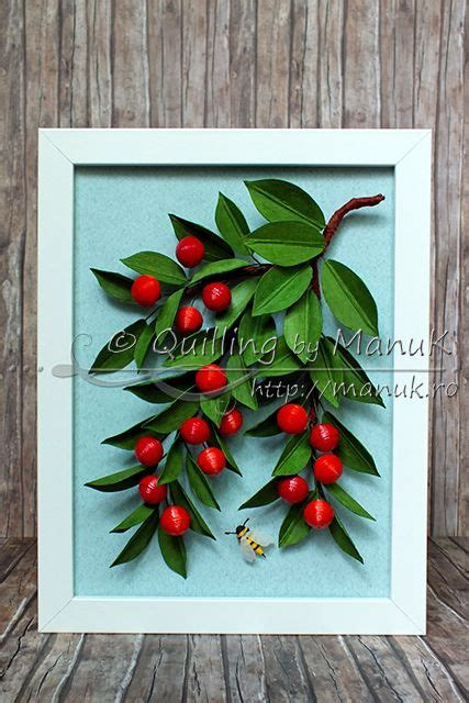 quilling tutorial beehive flower quilled cherries tutorial quilled cherry fruits on tree