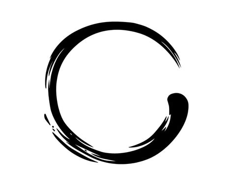 circle zen illustration ink brush vector grunge symbol