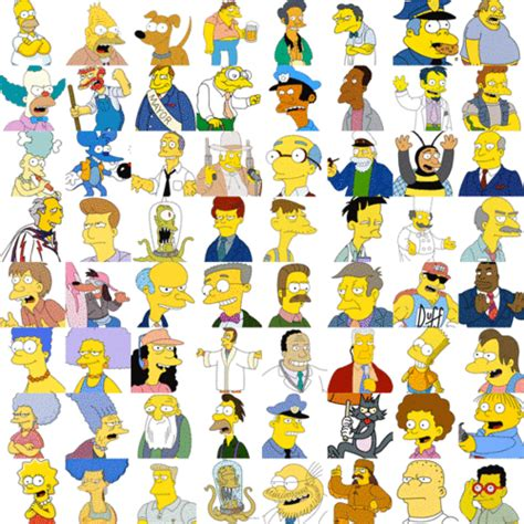 simpsons name simpsons characters names tv simpsons simpsons characters and humor