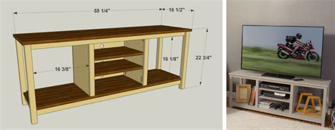 how to build a tv cabinet free plans easy to build tv stand kreg tool company
