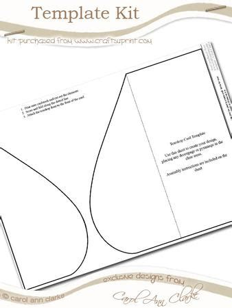 drop card template tear drop card template kit 1 sheet kit cup59054 359