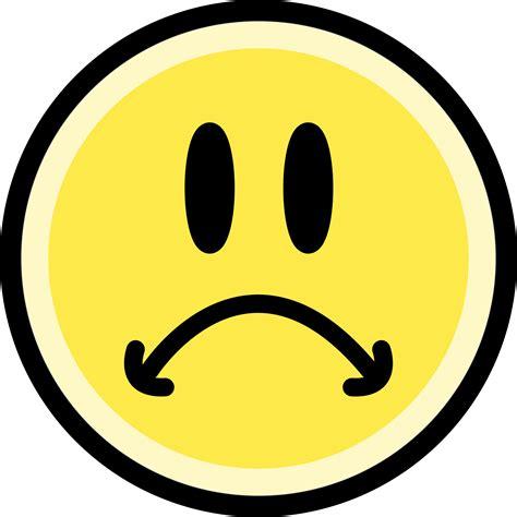 imagenes sad face clipart sad face emoticon yellow