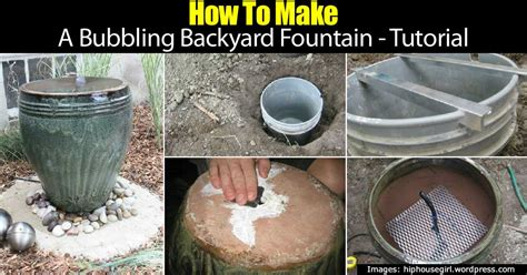 bubbling backyard fountain tutorial