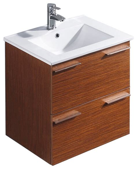 Ophelia Vanity by Vigo 24 Inch Ophelia Single Bathroom Vanity Wenge Without Extras Modern Bathroom Vanities And
