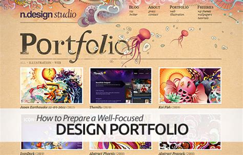 how to prepare a well focused graphic design portfolio
