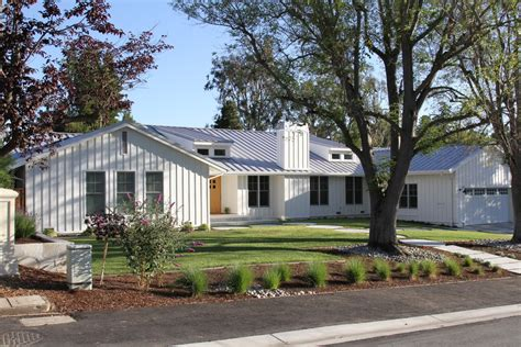 Duvet Vs Coverlet Board And Batten Siding Exterior Transitional With