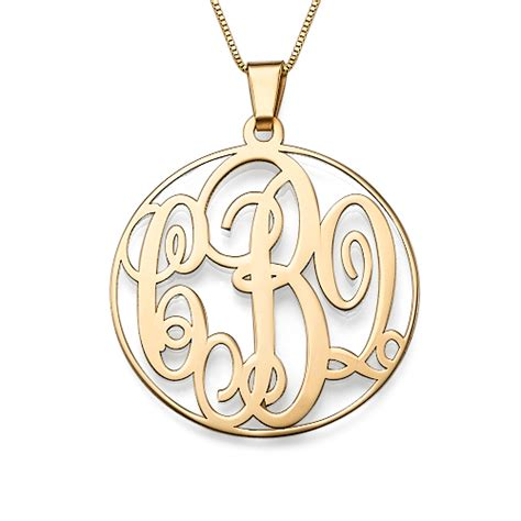 monogram name necklace 14k solid gold monogram necklace mynamenecklace