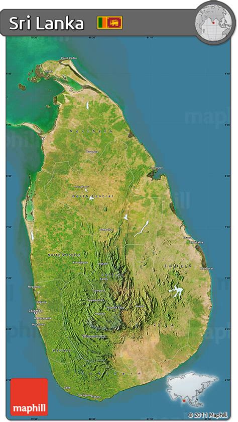sri lanka satellite map free satellite map of sri lanka darken land only