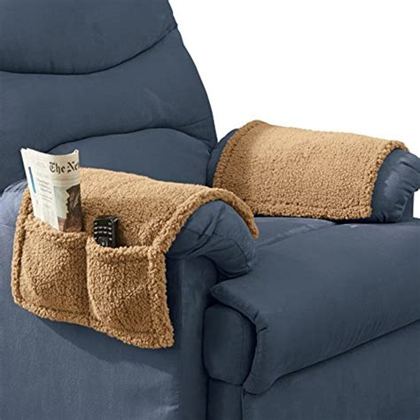 armchair pockets armchair covers with pockets set of 2 tan home decor