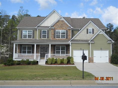 douglasville ga home in new subdivision new glass